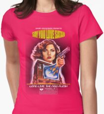 Say You Love Satan 80s Horror Podcast - Videodrome Womens Fitted T-Shirt