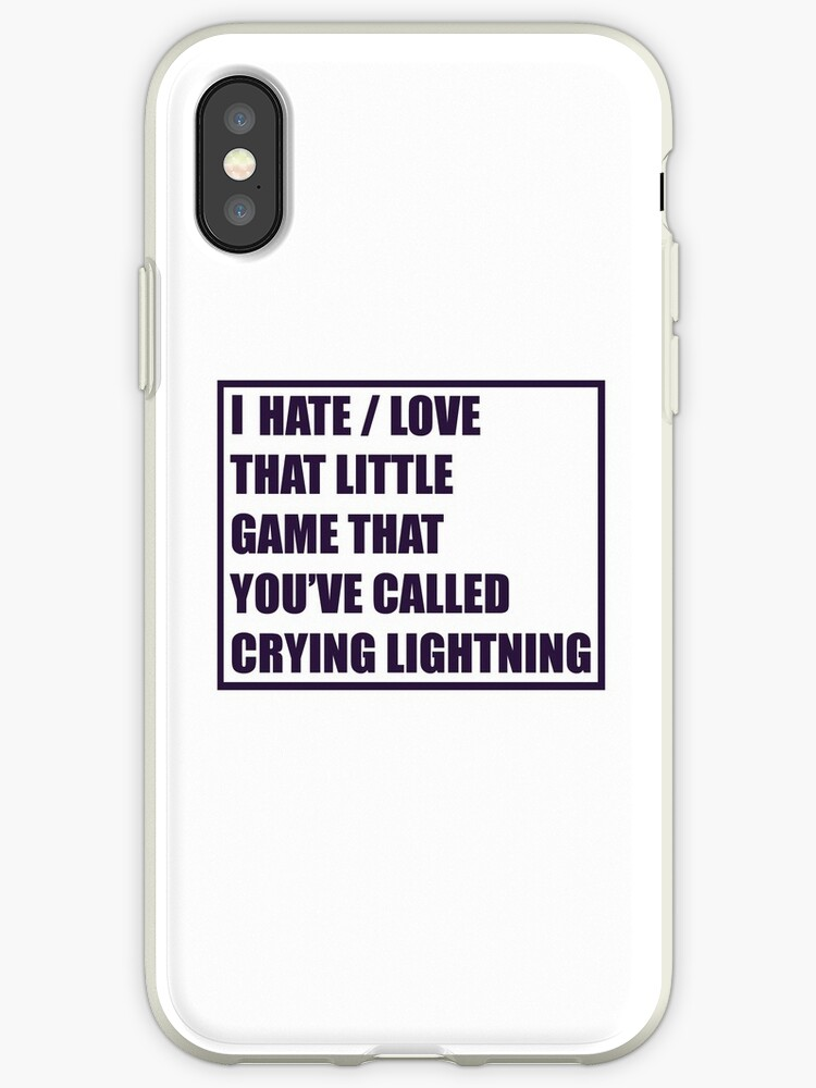 \'Crying Lightning (Quote) - Arctic Monkeys\' iPhone Case by mpadesigns