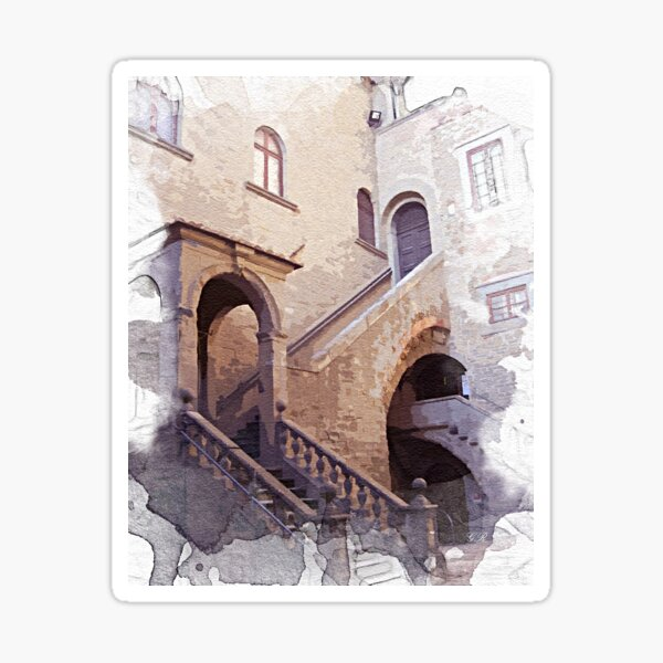 Tuscany. Old castle. Cortona Sticker