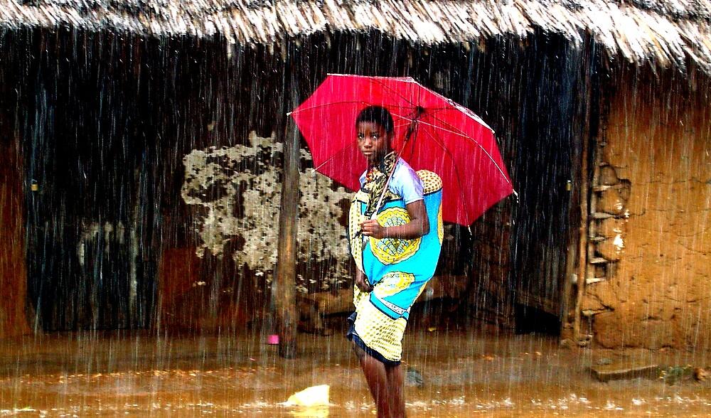 Makongeni Girl In Rain by David Mack