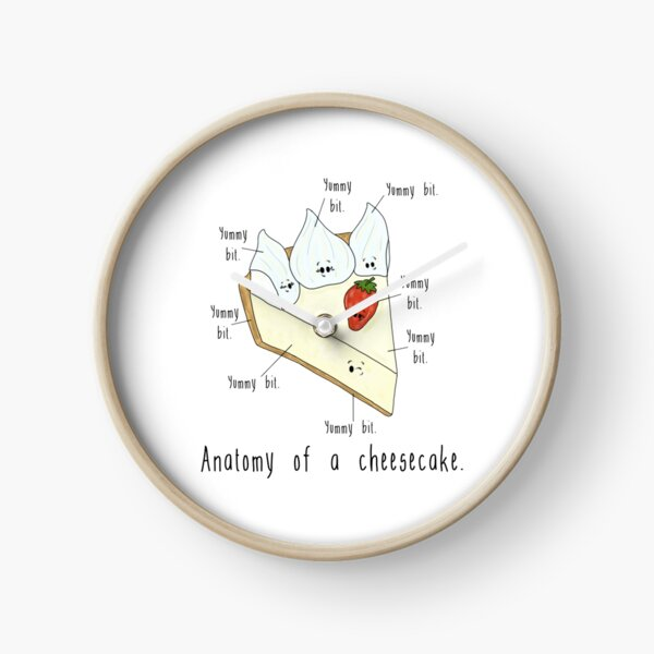 Anatomy of a Cheesecake. Clock
