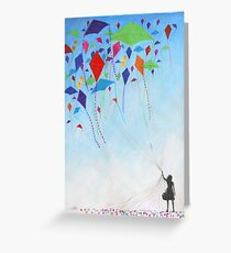 Kite Girl Greeting Card