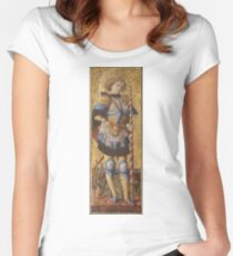 Carlo Crivelli - Saint George Women's Fitted Scoop T-Shirt