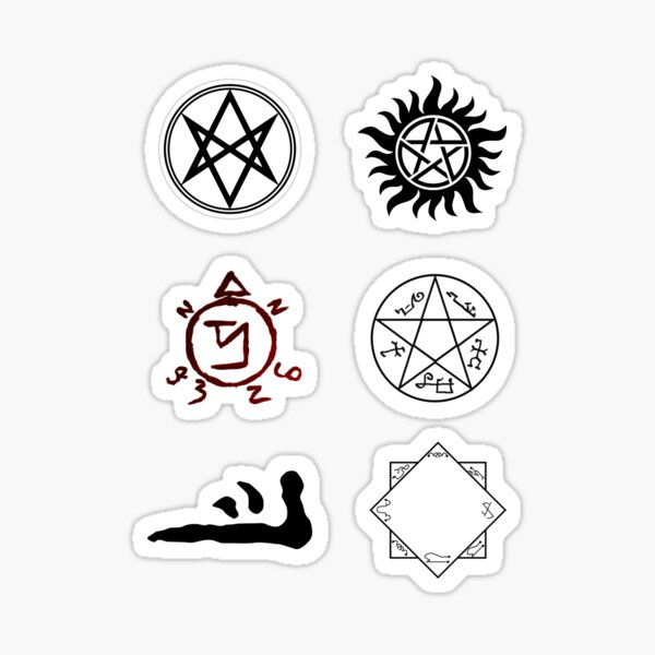 Supernatural Symbols Sticker