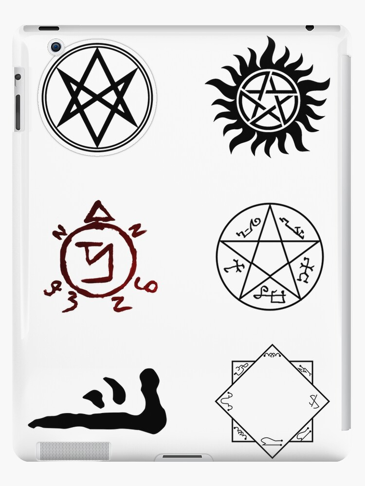 Supernatural Symbols Ipad Cases Skins By Spnprincess Redbubble