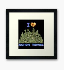 I love Action Movies Framed Print