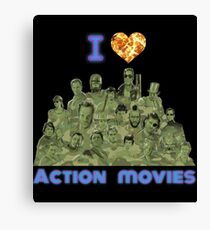 I love Action Movies Canvas Print