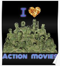 I love Action Movies Poster
