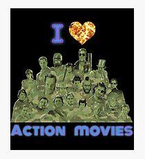 I love Action Movies Photographic Print