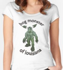 Bog Monster Of Louisiana Women's Fitted Scoop T-Shirt