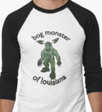 Bog Monster Of Louisiana Men's Baseball ¾ T-Shirt