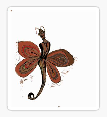 Red Fairy Sticker