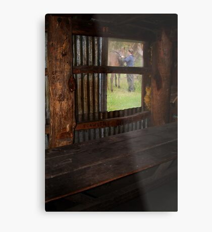 High Country Rider Metal Print