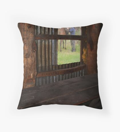 High Country Rider Throw Pillow
