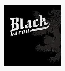 Black Baron - Coat of Arms Photographic Print