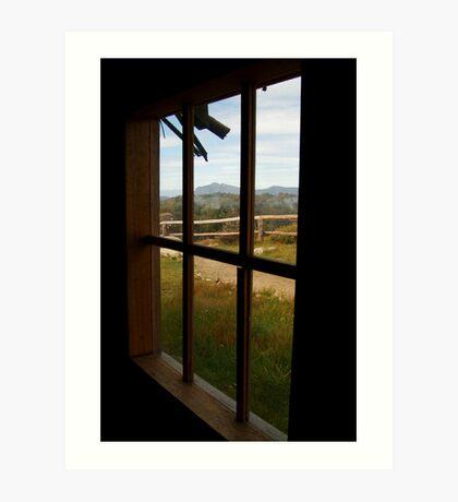 Window View Craig's Hut Art Print
