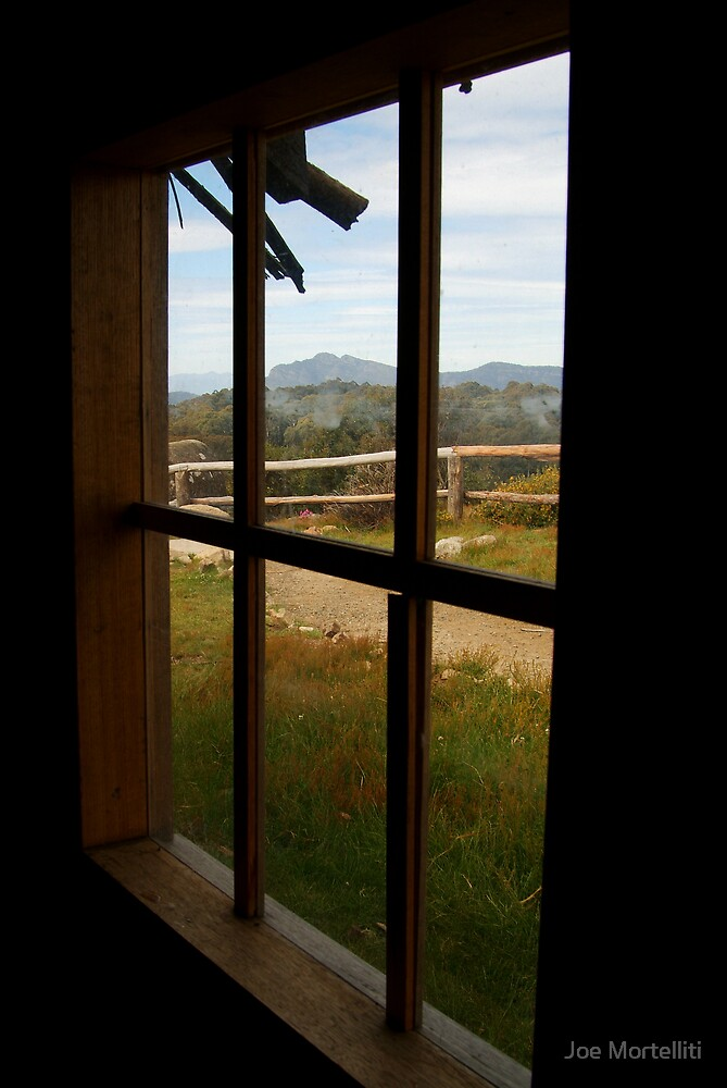 Window View Craig's Hut by Joe Mortelliti
