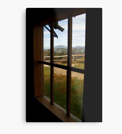 Window View Craig's Hut Metal Print