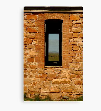 Stone Work, Cottage Ruin,Outback Australia Canvas Print