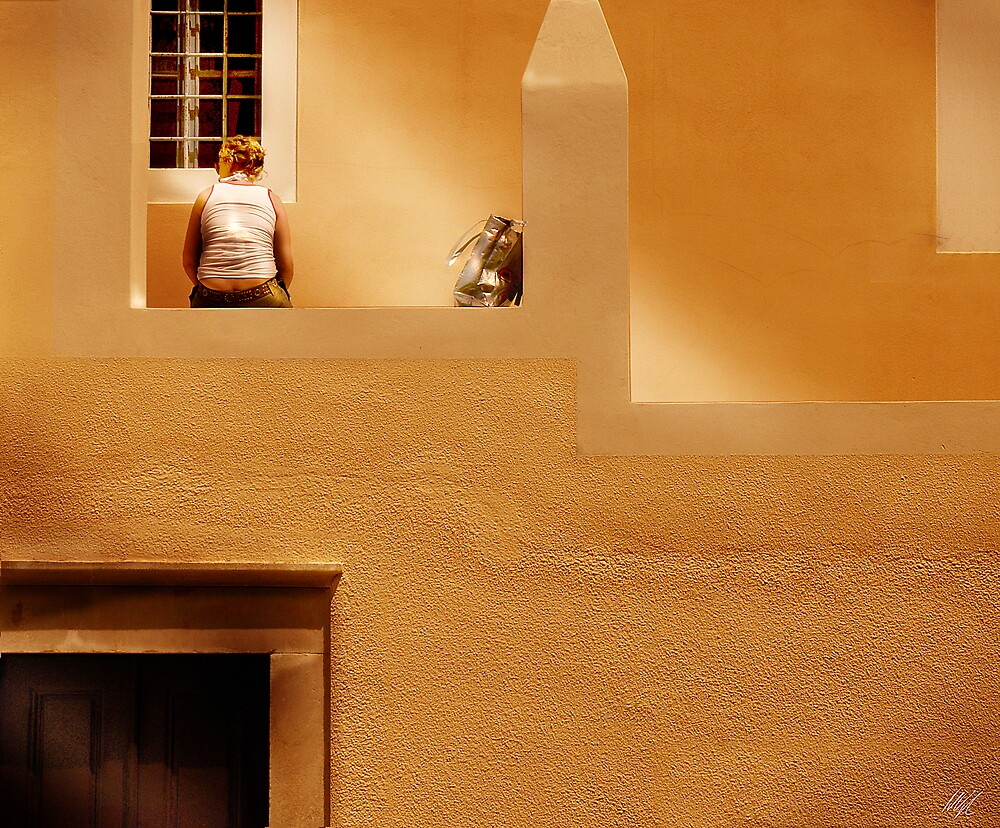 Santorini Wall by Paul Vanzella