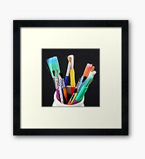 brushes Framed Print