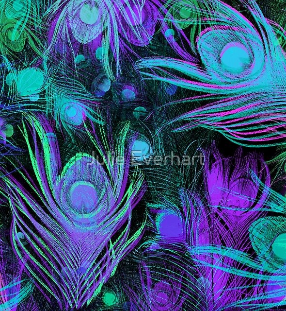 Peacock Feathers by Julie Everhart by Julie Everhart