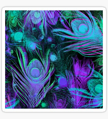 Peacock Feathers by Julie Everhart Sticker