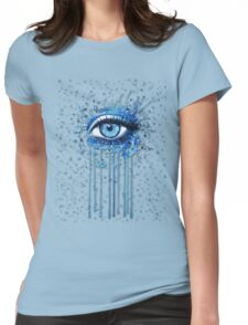 Eye of Blue - Watercolor Womens Fitted T-Shirt