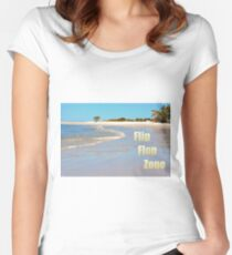 Flip Flop Zone Women's Fitted Scoop T-Shirt