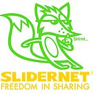 Green Slidernet Fox by drawgood