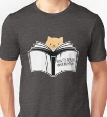 Cat Reading Book How To Train Your Human Unisex T-Shirt