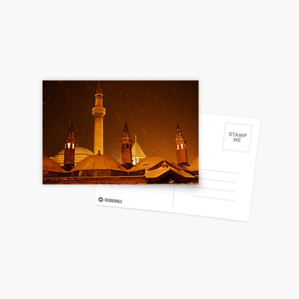 Winter Night at Mevlana Mausoleum Postcard