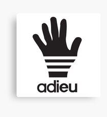 Adieu parody logo Canvas Print