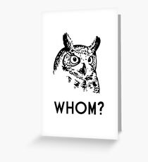 Hoo Who Whom Grammar Owl Greeting Card