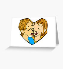 Heart-shaped couple Greeting Card