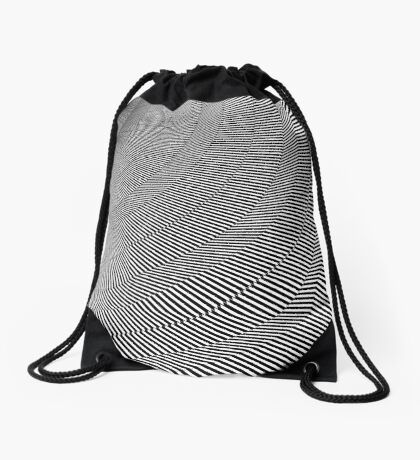 Rotated & Scaled Triangles 004 Drawstring Bag