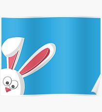 Easter Rabbit Cartoon Poster