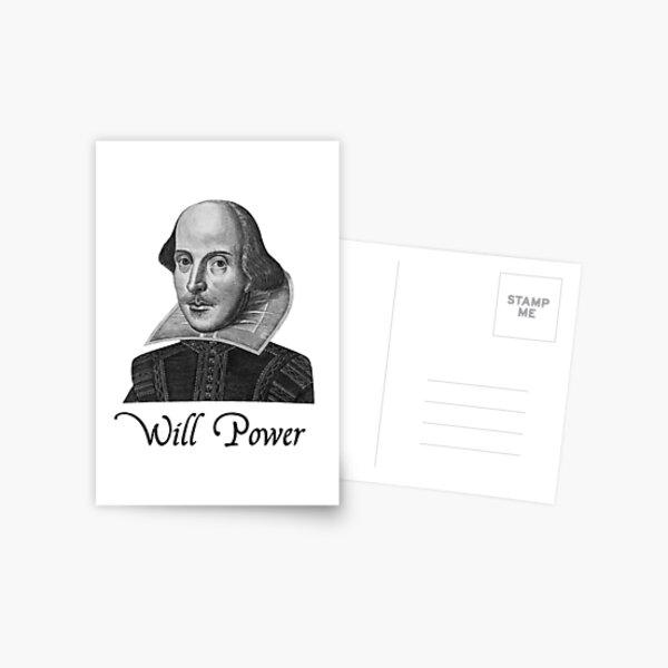 William Shakespeare Will Power Postal