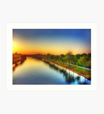 Sunset over Twentekanaal Art Print