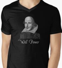 William Shakespeare Will Power Men's V-Neck T-Shirt