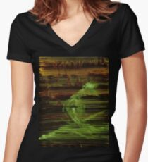 WDV - 537 - Mist Review Women's Fitted V-Neck T-Shirt