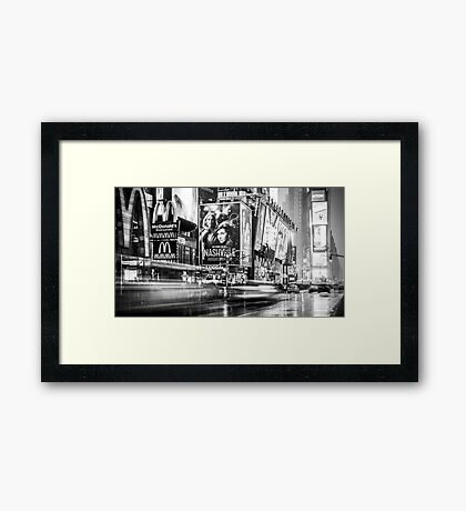 Broadway and Times Square Framed Print