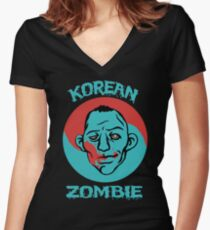 The Korean Zombie shirt Women's Fitted V-Neck T-Shirt