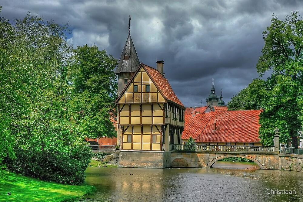 Storm over Schloss Burgsteinfurt by Christiaan