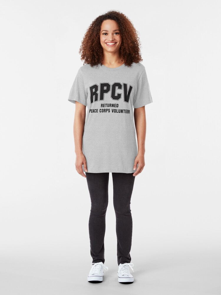 Alternate view of Peace Corps Volunteers Slim Fit T-Shirt