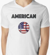 American Baseball Men's V-Neck T-Shirt