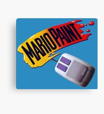 Mario Paint Logo & Mouse Canvas Print