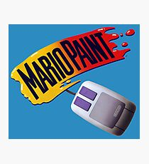 Mario Paint Logo & Mouse Photographic Print