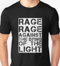 Rage Rage Against The Dying Of The Light Slim Fit T-Shirt