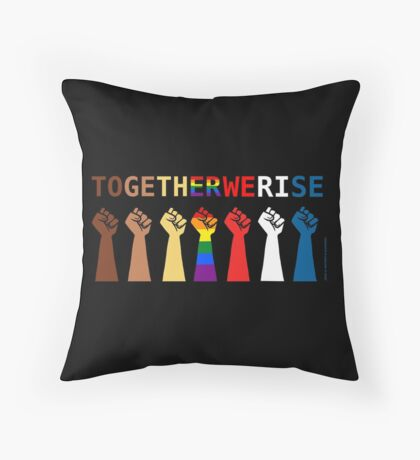 Together we rise Throw Pillow